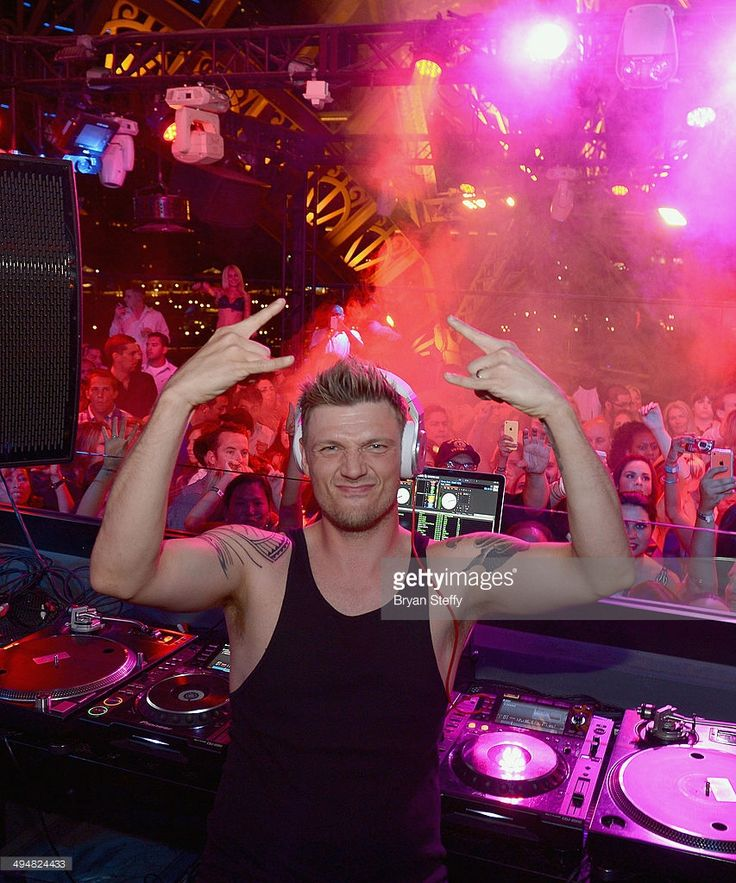 Singer Nick Carter of the Backstreet Boys performs during the Backstreet Boys official concert after party at the Chateau Nightclub & Rooftop at the Paris Las Vegas on May 30, 2014 in Las Vegas, Nevada.