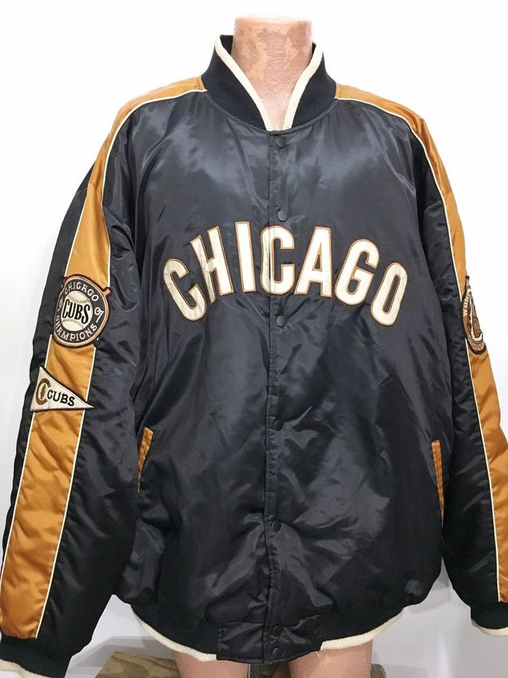 Chicago Cubs 3XL West Side Grounds 1907 World Champion Varsity Jacket Carl Banks #GIII #ChicagoCubs
