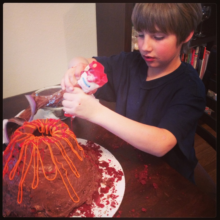 Food Network Recipe For Volcano Cake For Collis' Cub Scout