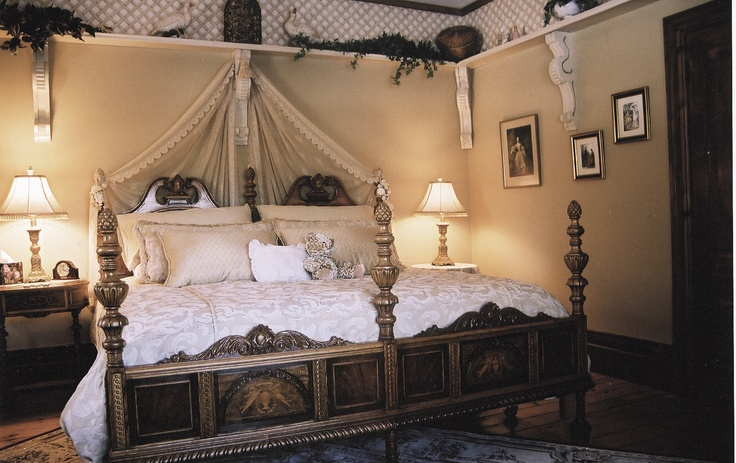 The Bridal Suite, one of two king rooms with an antique oversized claw foot tub and separate walk in shower.