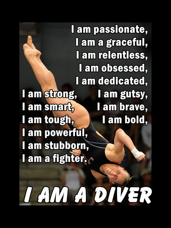 Diving I AM A DIVER Quote Inspiration by ArleyArtEmporium on Etsy