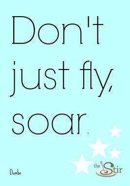 Don't just fly ...