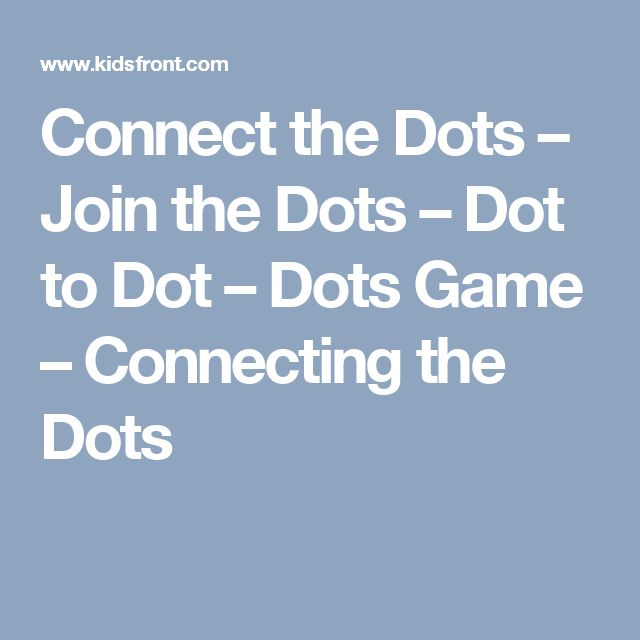 The  Best Connect The Dots Game Ideas On   Dot To Dot