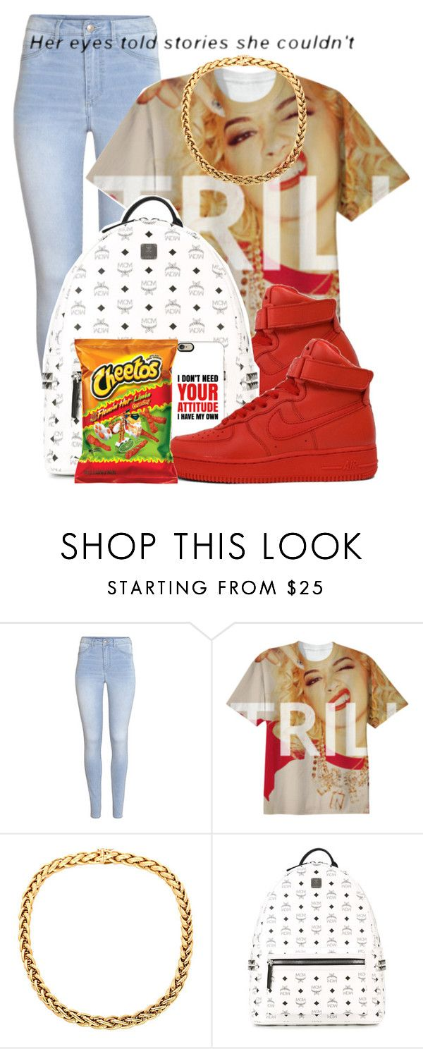 """""""Dope Swag 2016"""" by bxby-girl-rielle ❤ liked on Polyvore featuring H&M, NIKE, MCM and Casetify"""