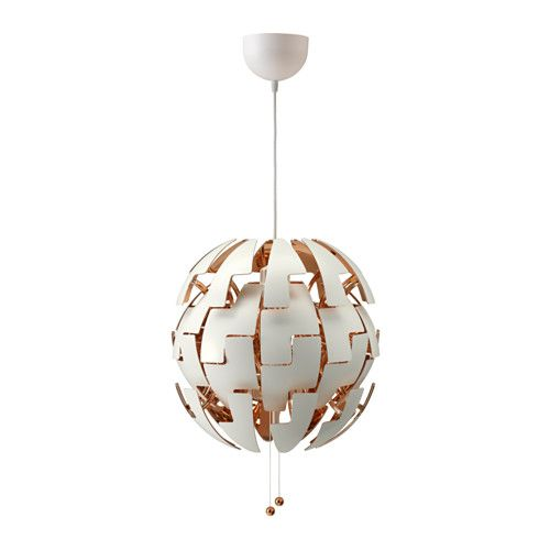 IKEA IKEA PS 2014 Pendant lamp White/copper-colour You can easily switch between a brighter general light and a softer mood light by just pulling the...