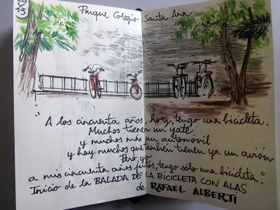 PARQUE - COLEGIO SANTA ANA: ESCRIBIR + DIBUJAR (28 de mayo de 2013)