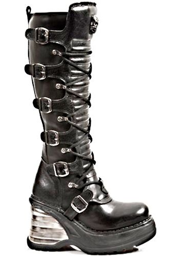 new rock 8272 boot black leather knee high boot anatomic