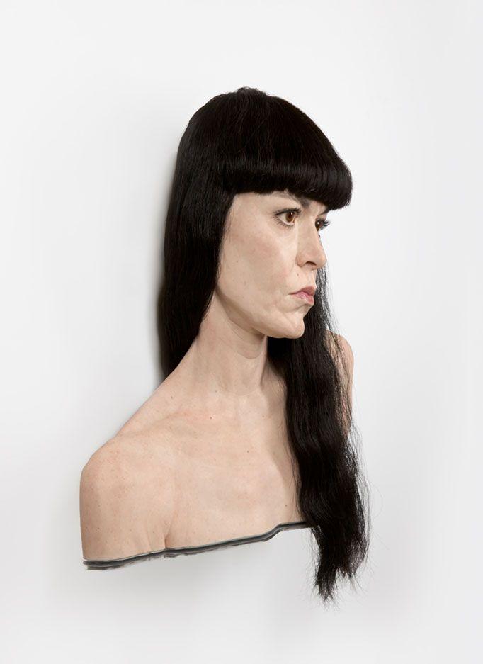 Evan Penny |Juliann 2013 122 x 97 x 30 cm silicone, pigment, hair, aluminum