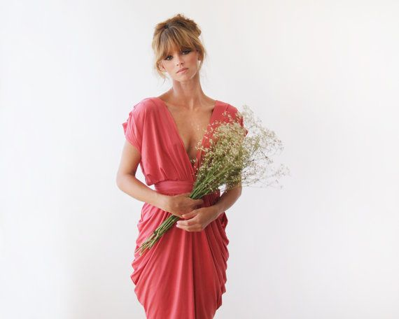 Hey, I found this really awesome Etsy listing at https://www.etsy.com/listing/89471583/coral-dress-party-dress-bridesmaids