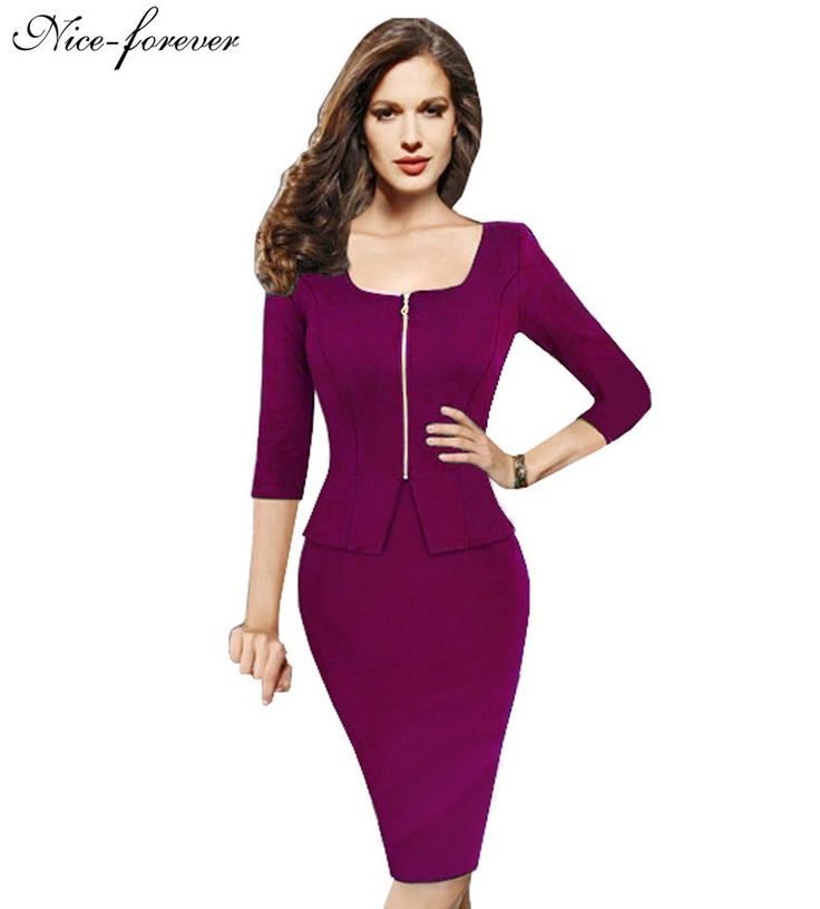 Want' to like a product without buying it, check this one out Nice-forever Vint... only available on Costbuys http://www.costbuys.com/products/nice-forever-vintage-work-5xl-women-tunic-pencil-dress-charming-3-4-sleeve-office-dress-elegant-knee-length-bandage-dress-898?utm_campaign=social_autopilot&utm_source=pin&utm_medium=pin