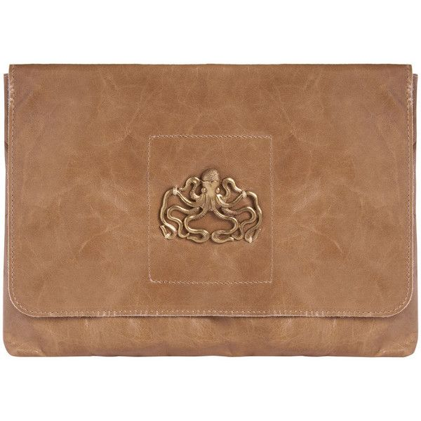 Sous Les Paves Esperanza Hand Bag with Octopus - Taupe