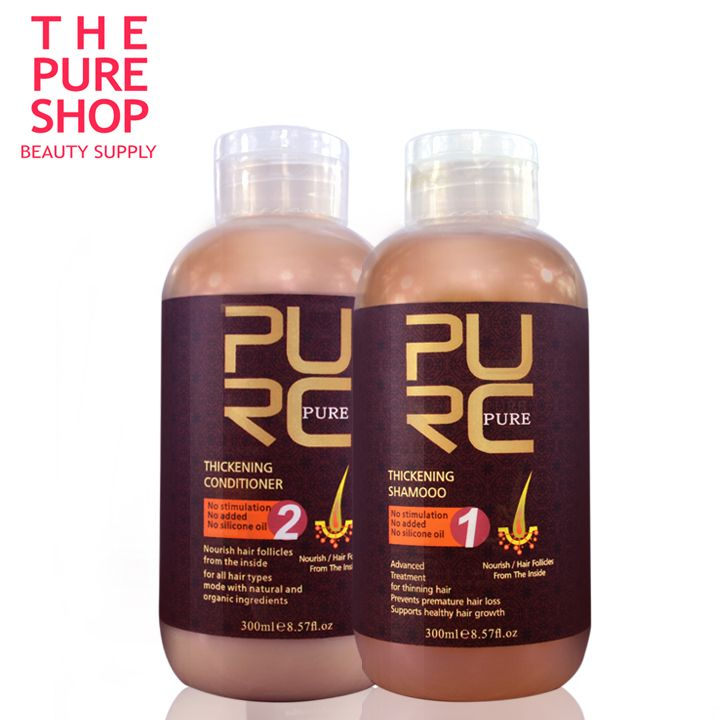 Hair loss products 2015 hot sale best hair growth products 300ml hair thickening shampoo and hair conditioner free shipping