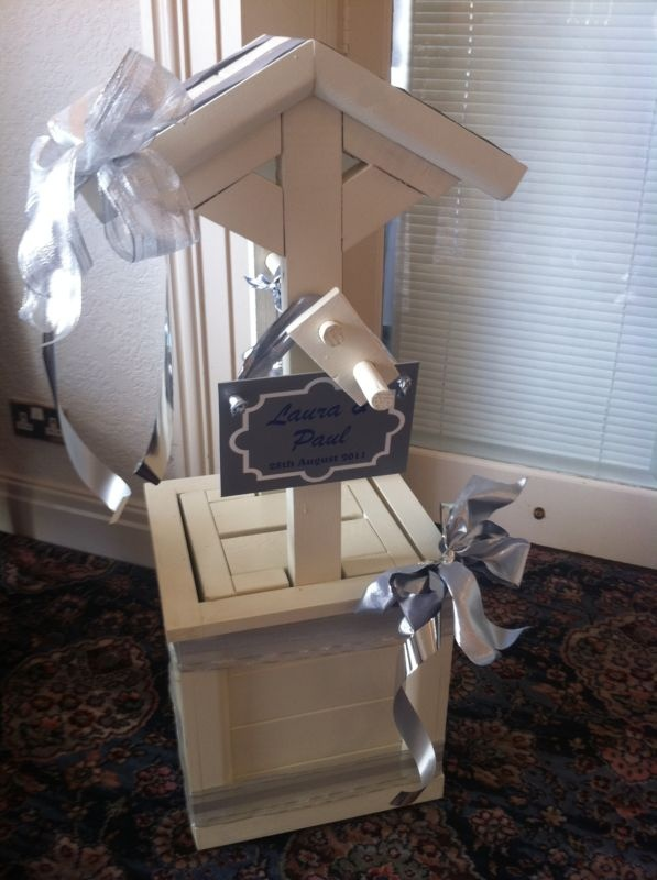 Ivory Wedding Wishing Well Card Post Box Inc Decorations Ribbons N Bows And