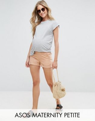 ASOS Maternity PETITE Chino Short with Under the Bump Waistband