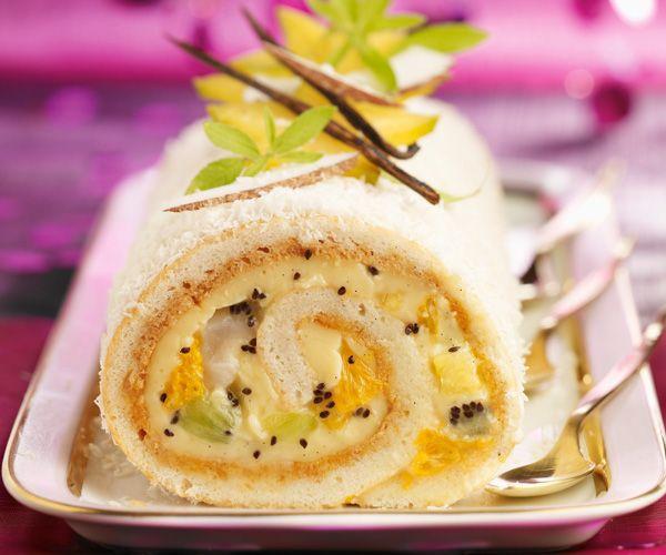 Voici une recette pour faire une bûche aux fruits très gourmande. Retrouvez également une astuce du chef Cyril Lignac.