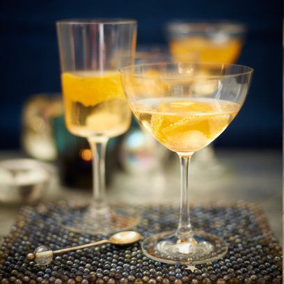 Pip McCormac's Orange Fizz Champagne Cocktail. For the full recipe, click the picture or visit RedOnline.co.uk
