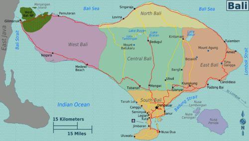 Bali travel guide - Wikitravel  Regional Map