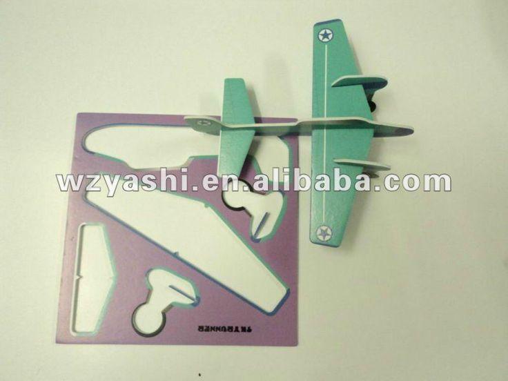 Eps personalizado avión/planeador de espuma de poliestireno/plano diy/plano de la pintura-Puzzles y Rompecabezas-Identificación del producto...