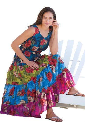 Fashion Bug Womens Plus Size Petite triple tiered www.fashionbug.us #PlusSize #FashionBug dress
