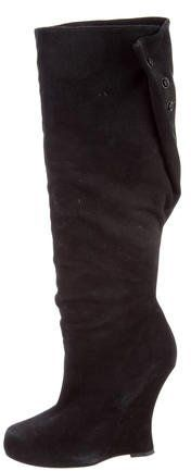 Tabitha Simmons Knee-High Wedge Boots