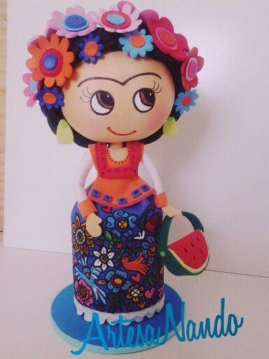 Frida Kahlo Fofucha EVA Fommy
