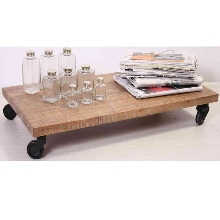 Tavolino etnico con rotelle - Etnico Outlet mobili etnici