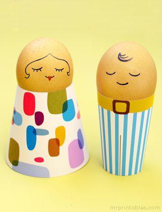 Húsvét, hímes tojás, tojás ember