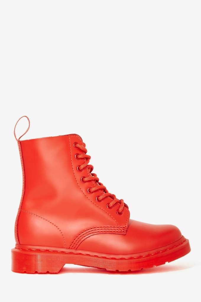 These are so super coll! Doc Martens Pascal 8-Tie Boot - Red | Shop Shoes at Nasty Gal