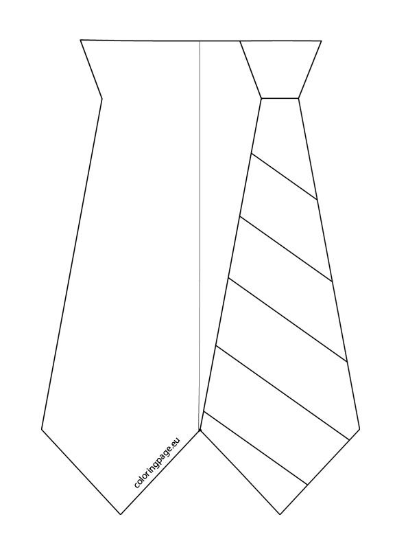 fathers day tie coloring pages - photo#12