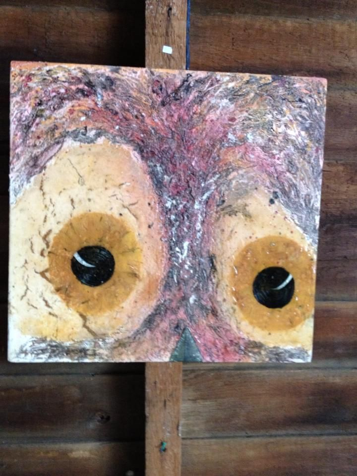 Owl Eyes, by Harley Snively Mixed Medium. Available through Silver Lake Studio-Harley Snively ART on Facebook. Located Port Dover Ontario Canada