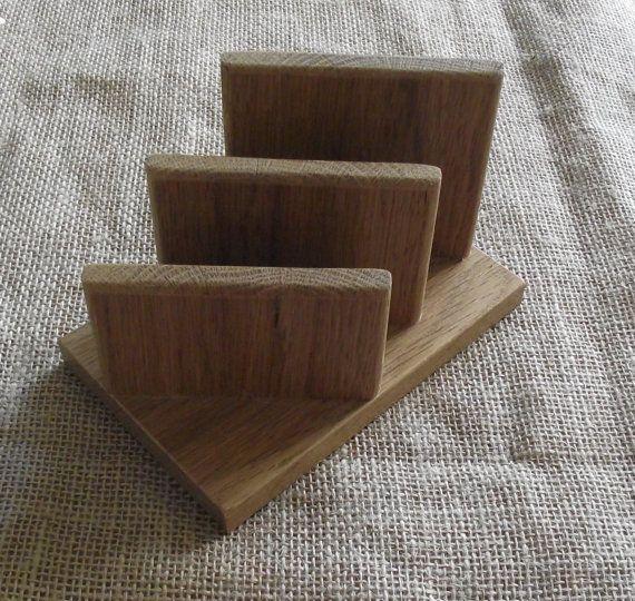 handmade modern oak napkin napkin wooden holdertable decor