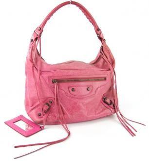 Balenciaga The Classic Day Bag In Pink Lambskin $695