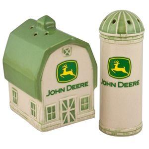 John Deere Barn & Silo Salt & Pepper Set | WeGotGreen.com