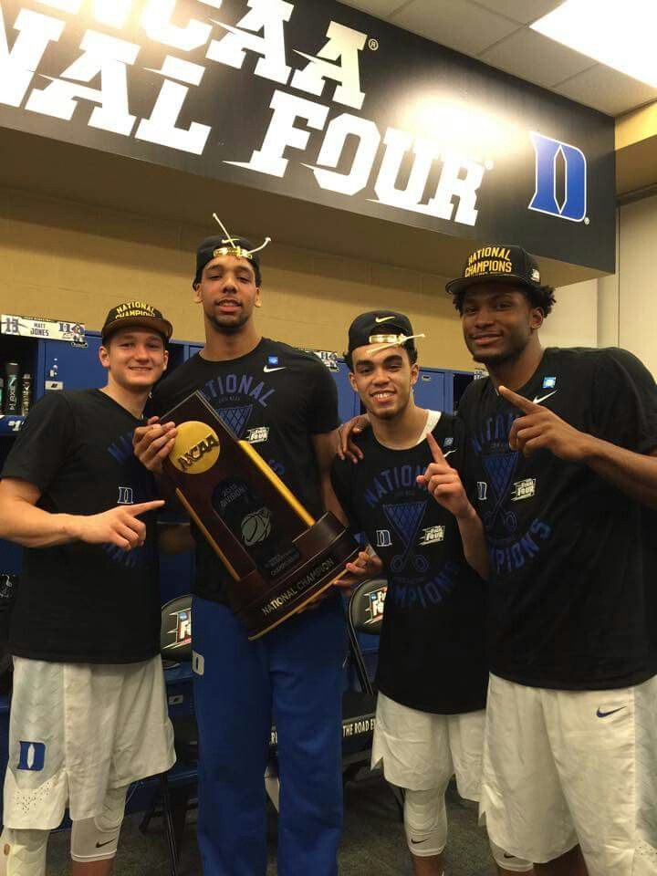 Grayson Allen, Jahlil Okafor, Tyus Jones and Justise Winslow