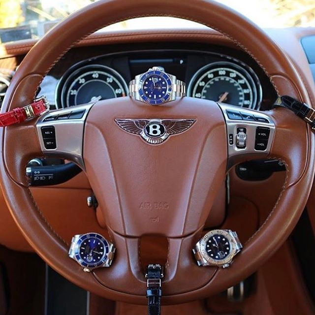 Rolex x Michael Louis Trio inside the Bentley GT - Courtesy of @maddalonijewelers  via LUXURY LIFESTYLE MAGAZINE OFFICIAL INSTAGRAM - Luxury  Lifestyle  Culture  Travel  Tech  Gadgets  Jewelry  Cars  Gaming  Entertainment  Fitness