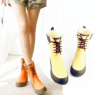 mode vrouwelijke laarzen korte ontwerp platte hak knie- hoog laag- hakken regen laarzen waterdichte vrouwen laarzen laarzen
