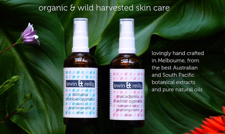 lewin & reilly organic & wild harvested skin care. Lovingly made in Melbourne Australia. www.lewinandreilly.com.au