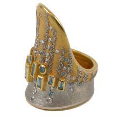 Michael Zobel - Blue Diamond Cocktail Ring
