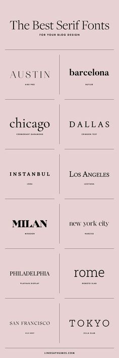 The Best Serif Fonts for Blog Designs