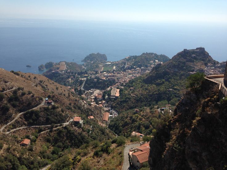 The road from Castelmola to Taormina, Sicily