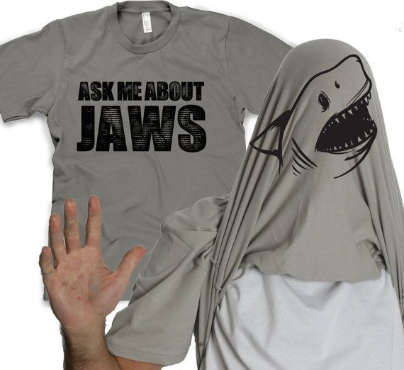 Ask me about Jaws shirt funny shark t shirt by CrazyDogTshirts, $16.99