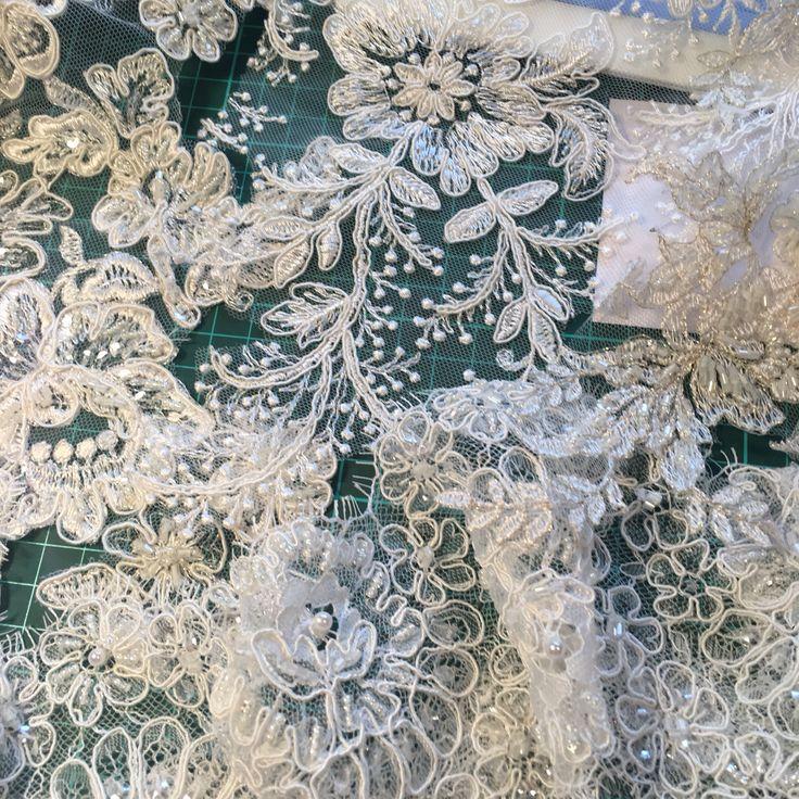 Beautiful Lace Trims for our 2017 Couture Veil Collection. 💐❤️❤️💐  #veils #valentine #love #wedding #bride #engaged #love #beading #winterwedding #handcrafted #sydneydesigners #embroidery #lace #bridalveil #swarovski #crystals #couture #tulle #weddingveil #bridalshoes #flowers #hautecouture #weoa #abfw #weddingexpo #winterbride #cloak #weddingexposaustralia #imgettingmarried
