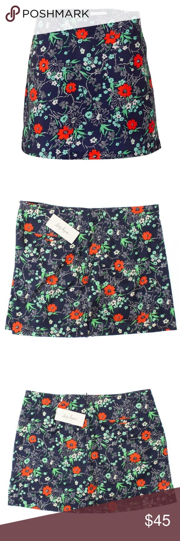 Lady Hagen monarch floral golf performance skort Brand new with tags. Retails at $55. Sizes available: 4, 6, 8 & 10. Super cute pattern. Great for golf and tennis! Shorts underneath! A great casual skirt/skort or the perfect 'active/performance' skort, too! Please see the 5th photo for additional details and features. I also have this skort for sale in a beautiful ocean club print! (See last photo). Lady Hagen monarch floral golf skort. Lady Hagen Shorts Skorts