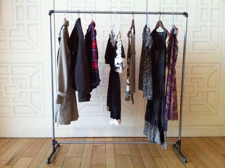 Galvanized Steel Garment/Clothing Rack. $150.00, via Etsy seller PipeDesigns