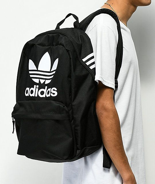 adidas Originals Big Logo Black Backpack in 2019  49e3236b939ee