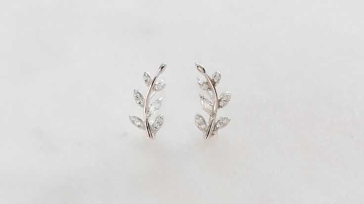 Sterling silver ivy climber earring bohchicstore.com
