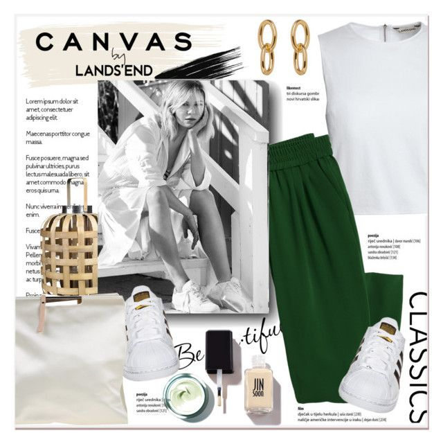 """""""Paint Your Look With Canvas by Lands' End: Contest Entry"""" by stylemeup-649 ❤ liked on Polyvore featuring Lands' End, Canvas by Lands' End, Schone, Pols Potten, adidas Originals, Pedro García, paintyourlook, canvasbylandsend and youaretheartist"""