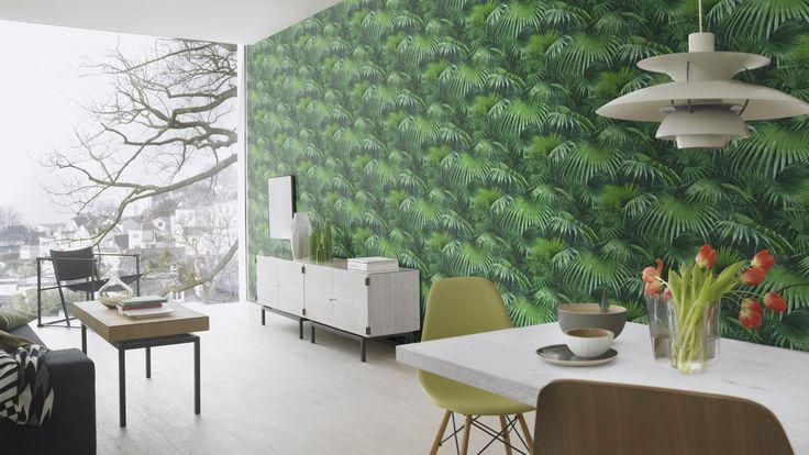 Rasch Tapete Crispy Paper grün Pflanzen 524901 Vliestapete kaufen