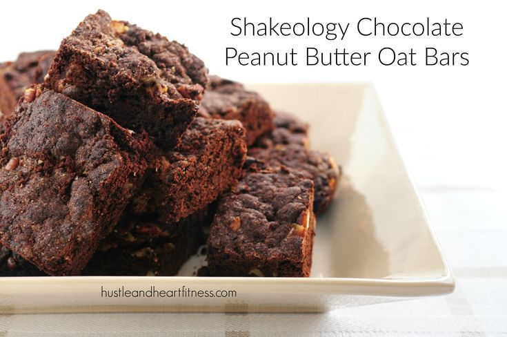 Chocolate Glazed Oatmeal Peanut Butter Bars Recipe — Dishmaps