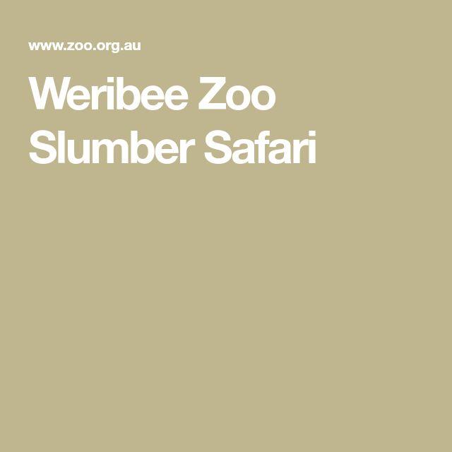 Weribee Zoo Slumber Safari